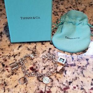 Sterling Silver Tiffany & Co. Charm Bracelet